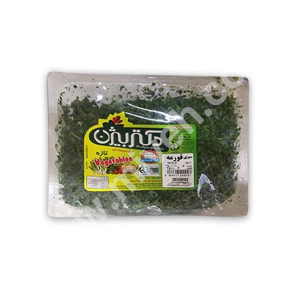 سبزی قومه دکتر بیژن – تره بار خرد شده