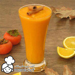 فروشگاه اینترنتی میوه - طرز تهیه اسموتی پرتقال و خرمالو