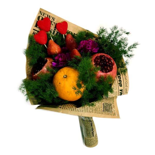 دسته گل میوه ای – بسته سفارشی